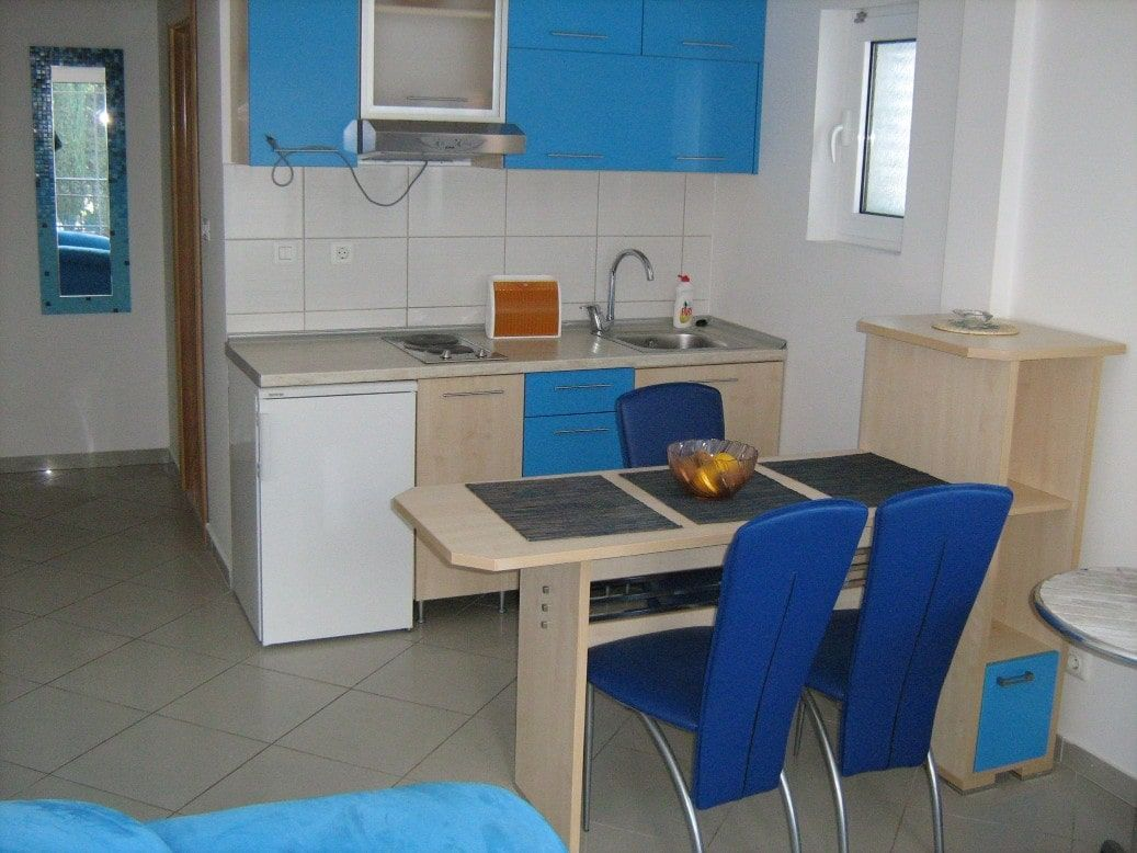 Blue apartment kitchen Montenegro