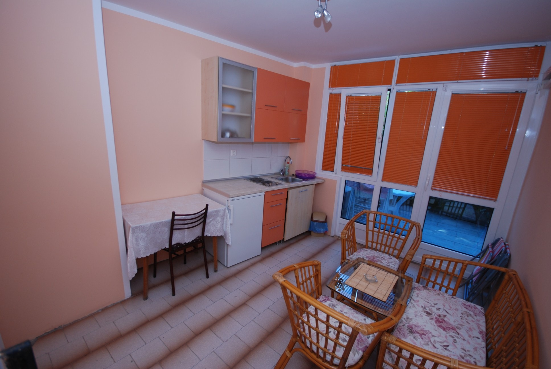 Orange apartment montenegro kitchen