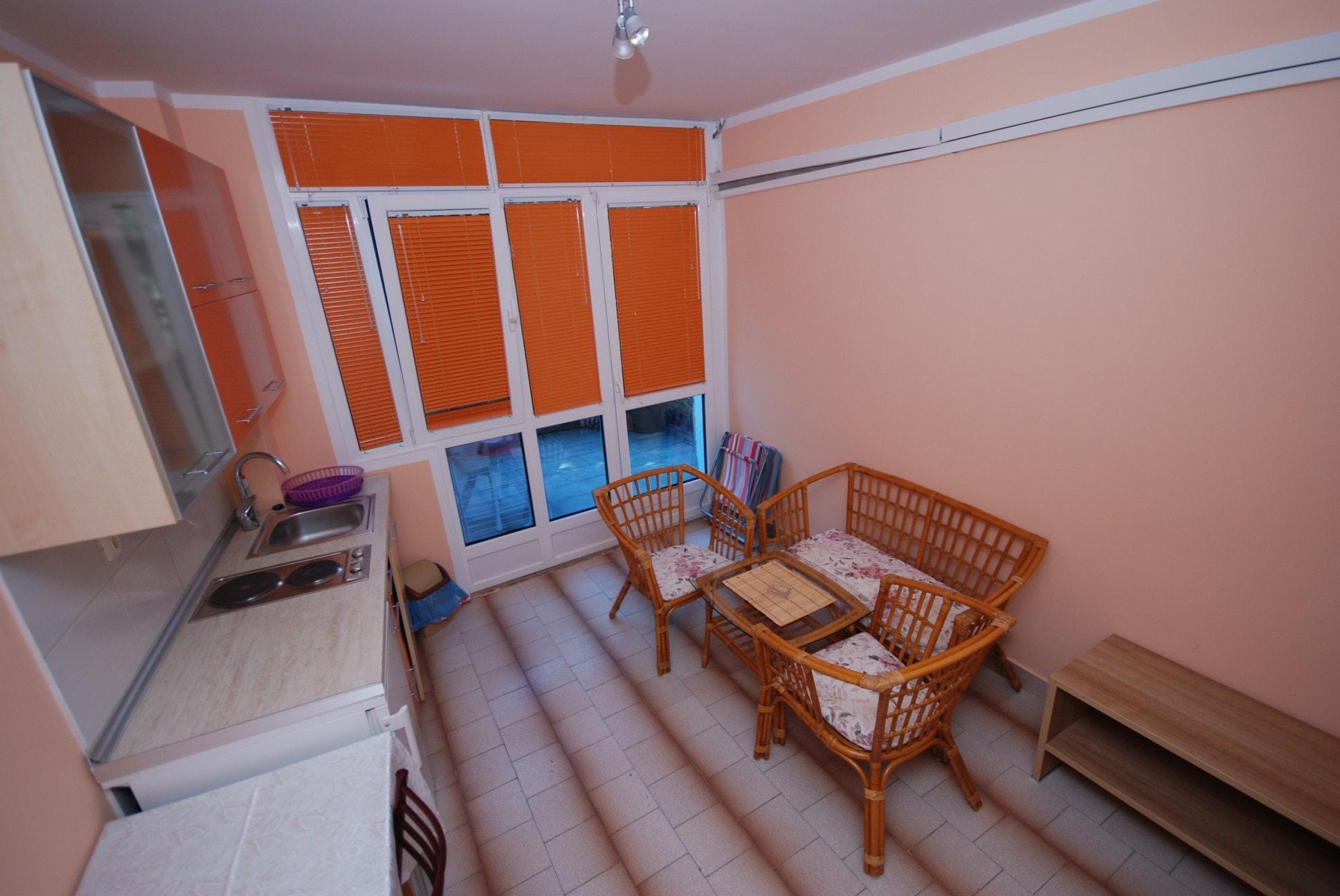 Orange apartment montenegro kitchen