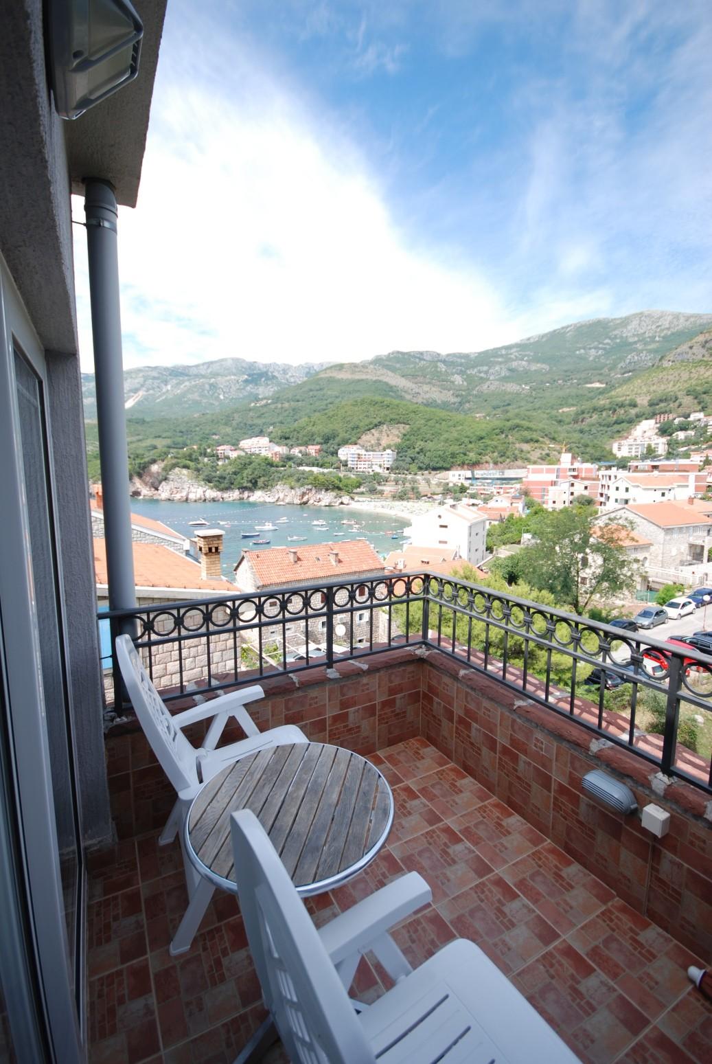 Blue apartment balcony Montenegro