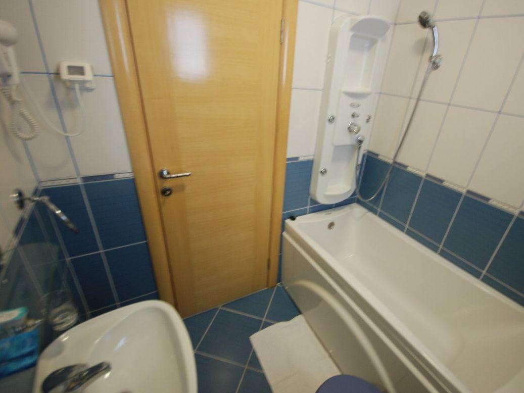 Blue apartment bathroom Montenegro